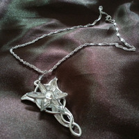 2013 New Lord of the Rings Style Princess Evening Star Pendant Necklace Crystal Twilight Star Chain Statement Necklace Hot Sale