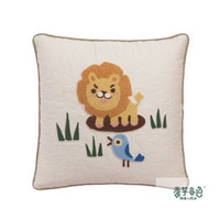 Free shipping Hand embroidered pillows Cotton and linen cloth Children's cartoon animals