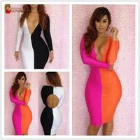 Hot Sale !!! Sexy Nightclub Dresses Summer Sexy Women's Party Evening bandage dress club wear Dresses H7100