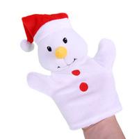 hand puppet Christmas snowman glove puppet plush bear finger puppet toy hand puppets for kids story toy fantoches de dedo 1pcs
