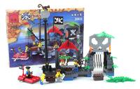 Enlighten Building Blocks Hot Toy Pirate  Series Skeleton Hamlet Construction Sets Educational Brick Toy for Children Compatible