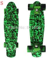 """New Holidays 22"""" Army Green Printed Series  Banana Bantom penny skateboard mini cruiser  long board skateing 1pcs"""