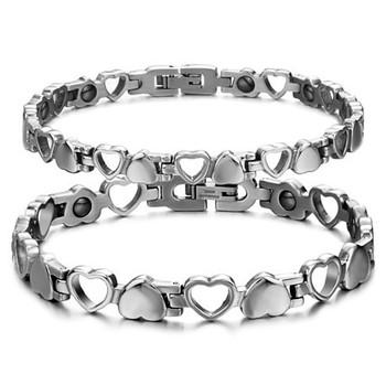 Мода магниты браслет мужчины здоровье магнитная нержавеющая сталь женщин мужские ...