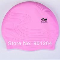 The novel strip swimming cap sculpture swimming cap adult style