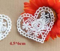 Kawaii heart shape rose cloth paste,cotton embroidery paste,appliques lace,decoration patches(ss-1847-281)