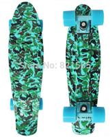 "New 22"" Army blue Printed Penny Board Nickel Skateboard Cruiser Mini Skate Long board Complete Skating"