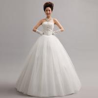 Free Shipping New 2014 Sweet Princess Handwork Bead Sequins Decoration Bride Bandage Wedding Dress MZY
