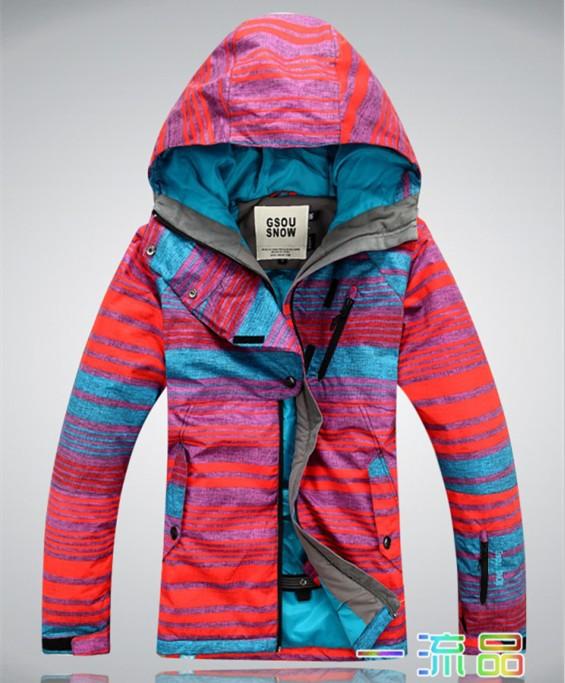 GS Радуга серии новый счетчик женщин Одноканальная / двухканальная плата водонепроницаемый дышащий лыжная куртка теплая куртка