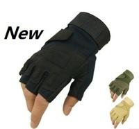 new 2013 sport the hunting glove fitness gloves unisex women men fingerless gloves mens womens Military Tactical slip-resistant