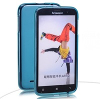 Lenovo A850 Clear Silicone Case Crystal Skin Cover + Free Screen Protector