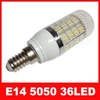 E14 7W 36x5050 SMD 700-750LM 6000-6500K Natural White Light LED Corn Bulb (AC 220-240V)