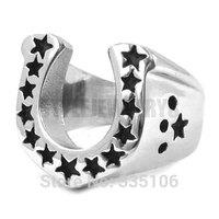 Free Shipping! U-Shaped Horseshoe Ring Stainless Steel Jewelry Classic Motor Biker Ring SWR0028