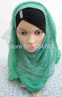 QSJ038 fashion 190*65cm glitter  long muslim scarf