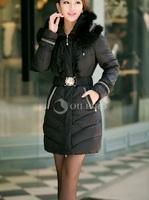 Winter jacket 2014 New fashion Oilbird  medium-long down coat female slim luxury fox fur collar winter outerwear