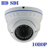 New ! HD SDI 1080P 1/3'' Sony Sensor 2.1 megapixel digital security camera Varifocal Dome 36 IR 2.8-12MM HD-SDI cctv camera