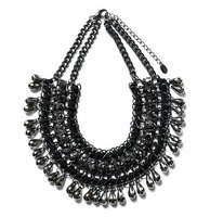 high quality2013new arrive fashion jewelrymultilayers black chain bib choker statement necklace for women  christmas length 45cm