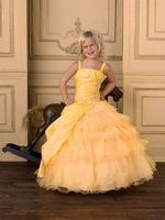 FL4269 Newest Straps Ball Gown Floor Length Wholesale Beautiful Flower Girl Dress