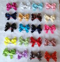100pcs/lot .20colors 9cm High Quality hair accessories hair bow hair clip with handmade hair flower