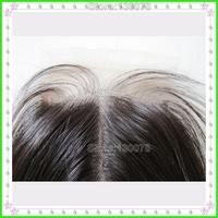 Hot ! Free shipping 4*4inch  natural black color ,silk straight  lace closure virgin brazilian hair