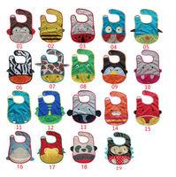 30 pcs/lot Baby Cartoon Zoo Bibs / Tuck-away Feeding Bibs, Saliva Towels,  Baby Bibs, Free Shipping Wholesale