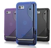 S Line Wave Gel Case Cover For Motorola XT615 Motoluxe Moto + Screen Protector