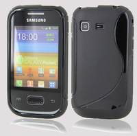S LINE WAVE SOFT GEL SKIN CASE FOR Galaxy Pocket S5300 + Screen Protector