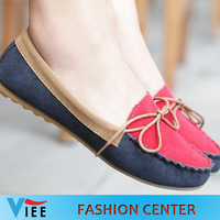 Free shioping new 2013 autumn candy color women's leather flats female spell color loafers shoes singles shoes LS130012
