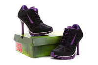 hot!Free Shipping 2014  New Design with Tag Women  High Heel Boots Shoes and Sports High Heels eur size :36-41  black/purple