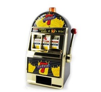 Fruit slot machine piggy bank novelty items birthday gift Slot Machine Liquor Bar CARD-TEC CL2