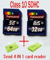 Free Shipping full capacity16gb sd 32gb sd card 64GB SDHC new transcend class10 memory card C10