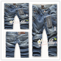 2014 New children 's jeans cotton Denim kids jeans girls pants baby trousers size:2/3t 3/4T 4/5T 5/6T 7/8T 9/10T