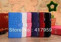 With Stand and Cards Holder Case for Galaxy Note3 & New Crocodile Grain Leather Case for Samsung Galaxy Note3 N9000 Freeshipping