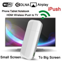 iPush D2 Wifi Display Dongle Receiver ARM 9 128M DLNA Airplay for Smart phone Tablet PC Multi-screen tv stick free shipping