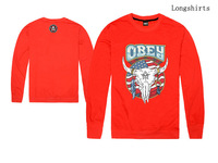 Obey Sweatshirt /Men Women /Red Series /Thin Long sleeve O-Neck /Casual Shirt /Cheap
