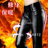 Top Grade Free shipping Fashion PU High Waist Leather Leggings Pants Plus Size Women Clothing XXXL Skinny Sexy Girls Pants S-3XL