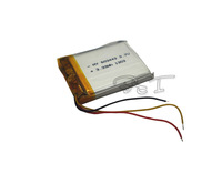 Lithium Li-polymer rechargeable Battery 3.7V  Three lines 900 mAh for bluetooth mp3 mp4 gps psp 603443