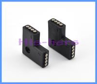 Free shipping 10pcs/lot 4 Pins Female DIY Black  L Shape  Connector For Led Strip Lights RGB 5050 3528