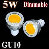 5pcs/lot High Quality 5W/7W/9W GU10 Dimmable Led COB Spotlight white/ Warm white Led Spot Light Lamp Bulb Home Ceiling Lighting