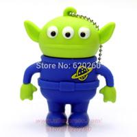 Freeshipping + drop-shipping Genuine Three eye monster usb flash drive memory cartoon toy story Aliens stick 2g/4g/8g/16gb/32gb