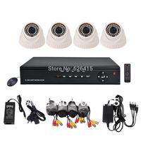 4 Channel Home Security 960H DVR Recorder System 700TVL IR-CUT Surveillance CCTV Camera Kit + Free Shipping