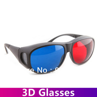 Free shipping!100pcs/lot  Red&Blue 3D Glasses View High Quality Plastic Frame Resin  Anaglyphic Digital Video Glasses for sale