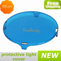 Round Led  Work Light Cover Protective suit 60w light Optic For PC Blue color free shipping wholesales