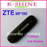 Free shipping unlocked ZTE MF190 USB Modem Hadps usb modem ZTE 3g usb modem