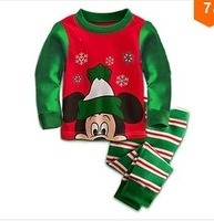 6 sets wholesale Boy's christmas pajamas children sleepwear longsleeve t shirt+long pants kids pajamas suit 2013 winter new