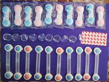 20pcs / SET 3 estilos kit trava de segurança do bebê porta do armário de bloqueio , Kids Bebê Segurança Gavetas bloqueio e Guardas de canto de mesa cobrir bola