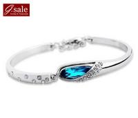 GS brand SL-25 Bracelets for women 2014 princess Austria crystal glass slipper  fashion jewelry vintage charm bracelets Bangles
