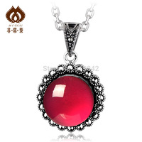 Free shipping Jade pendant 925 pure silver women's 11 jewelry circle pendant  necklaces & pendants