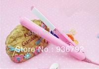 Mini Pink Portable Ceramic Hair Straightener Curler Iron Electronic Hair Straightening Flat Iron styling tools 110-220V US/EU