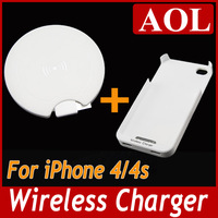 Mini wireless Charger 5V for All QI Stand Phones induction charger + wireless receiver for Samsung Galaxy iPhone 4/4s