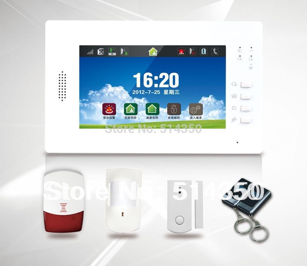 Гаджет  GSM Wireless Home Alarm System Touch Panel with Full touch screen 868mhz alarm None Безопасность и защита